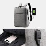 Mænd Oxford USB oplader letvægts stor kapacitet 15,6 tommer bærbar taske rygsæk