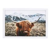 1 pezzo Stampa su tela Pittura Highland Cow Poster da parete Stampa decorativa Immagini artistiche Decorazioni da appendere a parete senza cornice per Home Office