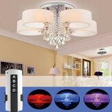 110V/220V 3-Head / 5-Head Remote Crystal Ceiling Light Chandelier Lamp Modern Living Room