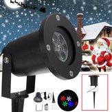 12W À Prova D 'Água Colorful Floco De Neve LED Laser Luz Do Estágio Da Lâmpada Do Projetor Para O Natal Ao Ar Livre