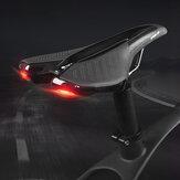 TEKERLEK UP Bisiklet Eyer Soft Rahat Su Geçirmez Bisiklet Koltuk Kılıfı Yastık MTB Yol Bisikleti için 6 Modlu Arka Lambası