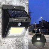 Solar Power Super Bright COB 24 LED PIR Motion Sensor Wall Light Outdoor Wireless Waterproof Lamp