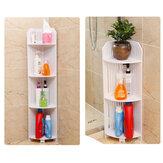 Wooden Bathroom Toilet Cabinet Corner Shelf Cupboard Storage Unit Free Standing Rack Bookshelf