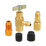 5pcs R1234yf R134a And R12 Special Can Tap Adapter Fittings Kit for 1/4 SAE 1/2 Inch ACME LH