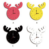 cervus canadensis Head Creative Wall Clock Woonkamer Home Cartoon Kinderklok
