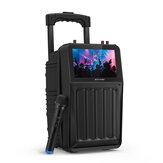 BlitzWolf® BW-DM1 30 Вт, TFT Экран, беспроводной динамик для караоке для вечеринок, с экраном TFT, звуком Hi-Fi, беспроводным микрофоном, несколькими порт