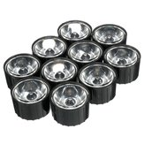 10pcs 10° 15° 30° 45° LED Lens for High Power DIY Black Light Lamp Bulb