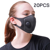 20PCS PM2.5 Anti Air Pollution Face Mask Breathable Activated Carbon Mouth Mask Camping Travel Cycling Mask