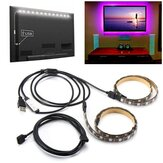 2 PCS 50 cm 5V 5050 Tahan Air RGB USB LED Strip Light Bar TV Latar Belakang Pencahayaan Pesta Kit