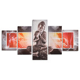 5 Pcs Wall Decorative Painting Statue Canvas Print Art Pictures Frameless Wall Hanging Decorations for Home Office