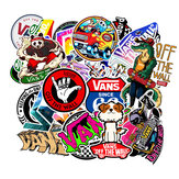 100PCS Skateboard Graffiti Stickers Impermeable Para Maleta Coche Refrigerador Moto Decoración