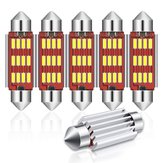 Audew 6PCS 42mm C5W 4014 SMD LED Festoon Dome Lumières Ampoules de plaque d'immatriculation 12V 2.7W 4882K Kit blanc