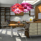 Abat-jour en plastique violet rouge à six couches de 50 cm adapté à la lampe de table lustre