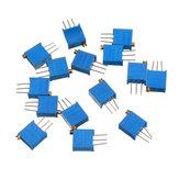 13Pcs 100R-1M 3296ポテンショメータパッケージ3296Wポテンショメータ可変抵抗
