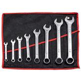 8pcs 45# Steel Combination Spanner Set 8-24mm Garage DIY Workshop Hand Tool