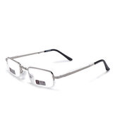 Unisex Full Metal Frame Foldable Easy Carry Convenient HD Reading Glasses Presbyopic Glasses