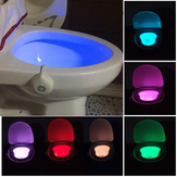 Motion Activated Toilet Night Light Bowl Bathroom LED 8 Color Lamp Sensor Lights