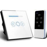 MAKEGOOD 110-240V 500W Smart Home UE Dimmer Switch Cristal de vidro sem fio Controle Remoto Light Dimmer Switch RF Switch 220V