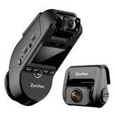 Zenfox T3 2K 3CH Triplo Canal Dash Cam Car DVR 1080P Câmera traseira Sony Starvis IMX335 Suporte de gravação de vídeo 2,4 GHz 5 GHz Wifi