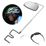 BIKIGHT Aluminum Alloy Lightweight 360 Degree Bike Helmet Mount Rear View Mirrors Adjustable