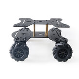 MC801 Double-layer 65mm Omni Wheel Metal RC Smart Car Chassis