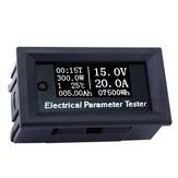 RIDEN® 100V / 20A 7in1 OLED Multifunctioneel testapparaat Voltage Current Tijd Temperatuur Capaciteit Voltmeter Ampèremeter Elektrische parameter Meter