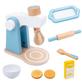 Baby Wooden Kitchen Toy Machine Food Mixer for Kids Pretend Play Educational Toy Children Party Decoration Birthday Gift