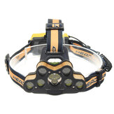 ELFELAND 6-Modes T6 7*LED Ultra Bright USB Rechargebale Headlamp Outdoor Camping Head Torch Hunting Search Light