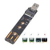 Liangteng USB3.1 إلى M.2 NVME / SATA محول محرك الأقراص الصلبة NVME NGFF SATA محول بطاقة قارئ SSD SDD 2230 2242 2260 2280