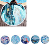 Multifunction Round Beach Blanket Sunscreen Shawls Wall Hanging Beach Mat Camping Travel Picnic Mat