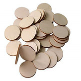 25Pcs Blank Circle Round Wood Chip Sheet Unfinished Laser Engraving Wooden DIY Painted Crafts