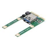 Laptop Mini PCI-E to USB3.0 Adapter Card Mini PCI Extended USB Interface Half Height Full Height Expansion Card