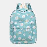 Femmes Nylon Daisy Casual Campus Backpack School Bag