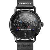 TOMORO TMR1019BK Fashion Creative Dial Date Display 3ATM Waterproof Men Quartz Watch