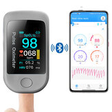 Boxym Smart bluetooth 5.1 Fingertip Pulse Oximeter HRV Heart-Rate Variability Meter Monitor APP Control Data Record Oximetro De Dedo Support Android IOS