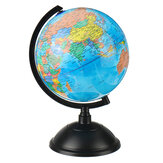 LED Illuminated Globe Earth 20cm PVC Globe With Arc Stand Rotatable LED Luminous Earth Model For Children Geographical Learning