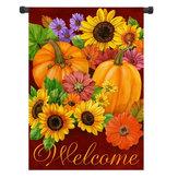 12.5 '' x 18 '' Цветок тыквы Добро пожаловать Осень Осень Сад Флаг-двор Баннер Декор Декорации