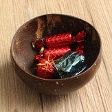 Natuurlijke kokosnoot kom gerechten handgemaakte handwerk Vintage Craft decoraties