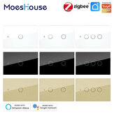 MoesHouse ZigBee3.0 AC100-250V 50/60Hz US Wall Touch Smart Light Switch Support Neutral Wire/No Neutral Wire No Capacitor Smart Life/Tuya Works with Alexa Google Hub Required