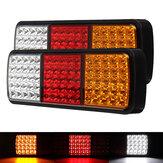 2ピース75 LEDトラックテールライトトレーラーブレーキランニングウインカーリバースボートインジケータートラックキャラバンランプ