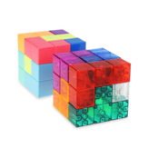 Cube Luban Cube Magnetic Building Blocks Tetris Three-dimensional Intelligence Children's Educational Toys
