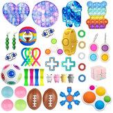 44pcs Fidget Antistress Toy Set Relief Gift Pack Adultes Enfants Squishy Sensoriel Antistress Relief Bubble Puzzle Toys Décompression Artefact