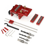 Drillpro 3 in 1 Adjustable Woodworking Doweling Jig Kit Pocket Hole Jig Drilling Guide Locator For Furniture Connecting Hole Puncher Tools