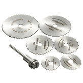 7pcs Circular Wood Cutting Saw Blade Discs with Mandrel
