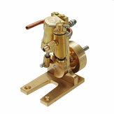 Microcosmo Micro Escala M1 Único Cilindro Do Motor De Vapor Modelo Completo Matel Modle