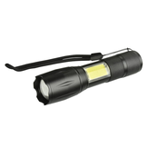 XANES 103C-COB T6 + COB 1000Lumens 4Mode Brightness Zoomable Tactical LED Flashlight