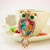 Honana DX-03 Creative Exquisite Owl Crystal Car Key Chain Trendy Handbag Pendant Bag Buckle