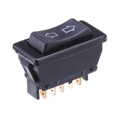 Universal DPDT Car Power Window Rocker Switch 5 Pinów DC 12V 20A Black Plastic