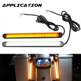 2PCS Car Motorcycle 36LED Turn Signal Flowing LED Strip Light White&Yellow 12V