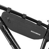 Bicicleta ROCKBROS Bolsa Quadro dianteiro da bicicleta Bolsa Acessórios para bicicletas de estrada MTB impermeáveis à prova de sujeira